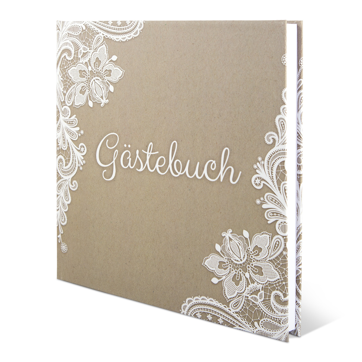 hochzeit g stebuch hardcover rustikal kraftpapier 210 x 210 mm 144 seiten ebay. Black Bedroom Furniture Sets. Home Design Ideas