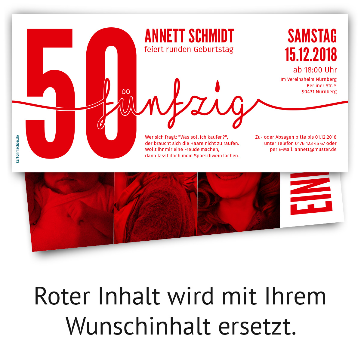 einladung runder geburtstag 50 jahre einladungskarten. Black Bedroom Furniture Sets. Home Design Ideas