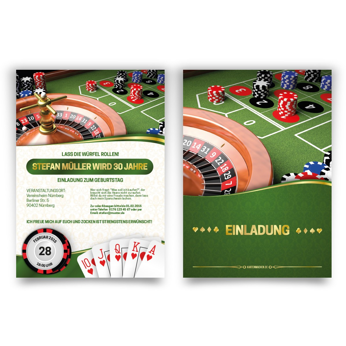 casino einladung text