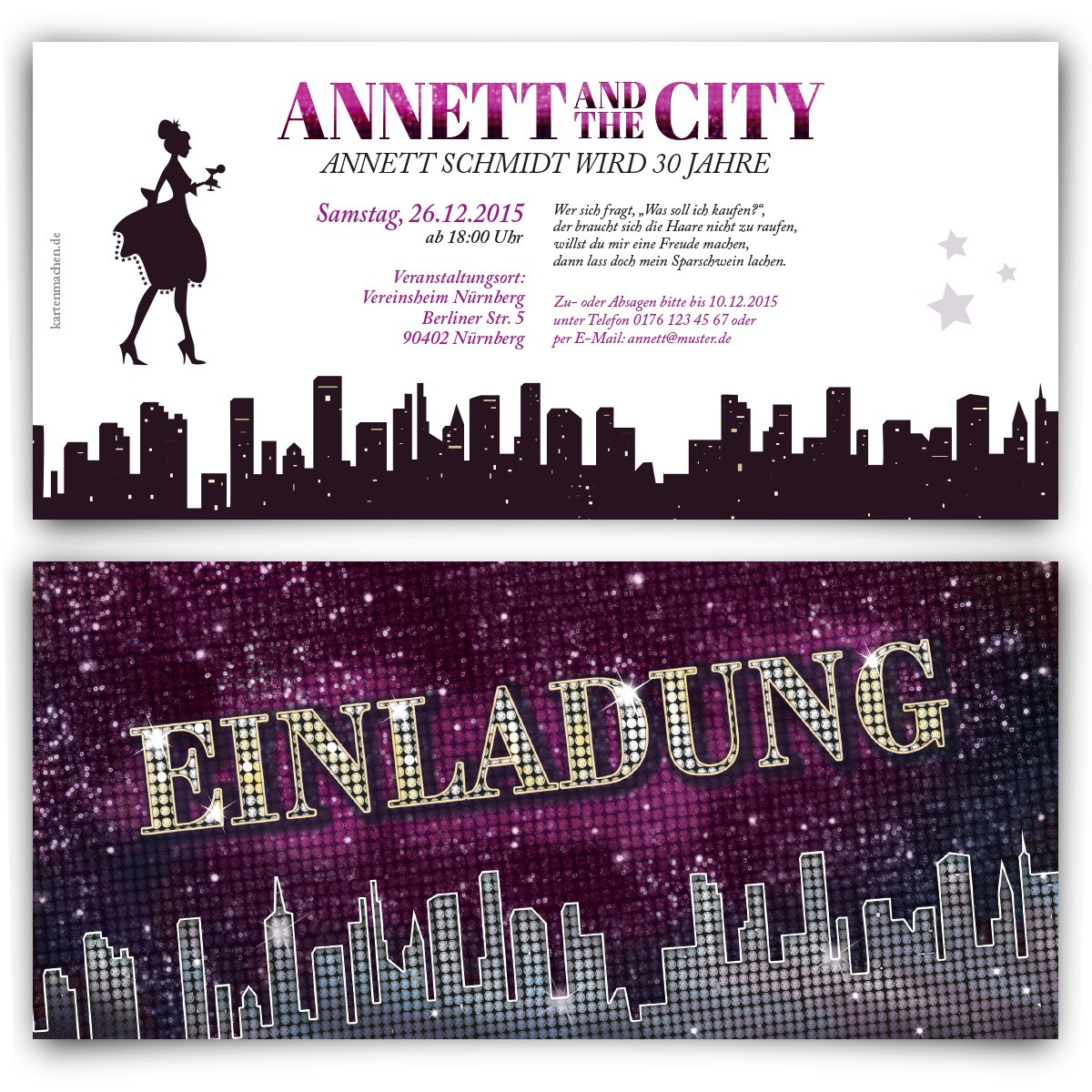 Ladies and the City Einladungskarten zum Geburtstag