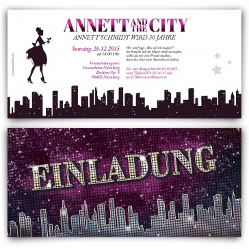 Einladungskarten - Ladies and the City