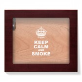 Angelo Humidor mit Glasdeckel - Keep Calm