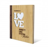 Personalisiertes Stammbuch Bambus Cover DIN A4 - Love