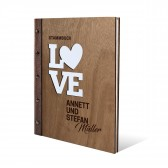 Personalisiertes Stammbuch Okoume Holz DIN A4 - Love