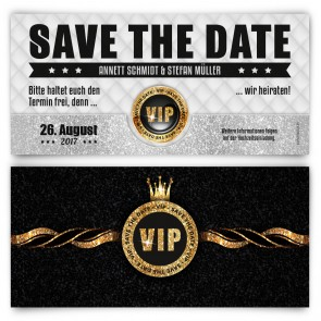 Save The Date Karte - VIP Gold